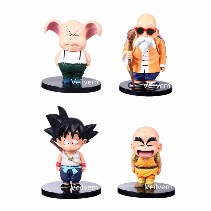 Dessin animé Goku Krillin kame-sennin figurines d'action PVC Dragon Ball modèle japonais Anime Figurine Collection ornement de Table créatif