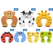1pc Baby Safety Protection Cartoon Animal Shape Door Blocker For Kids Finger Protectors Door Clamp Pinch(China)
