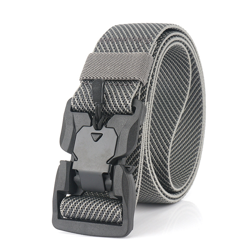 Casual Elastic Belt For Men Magnetic Buckle Comfortable Male Trousers Belts For Jeans Adjustable Stretch Tactical Waist Belt Hot