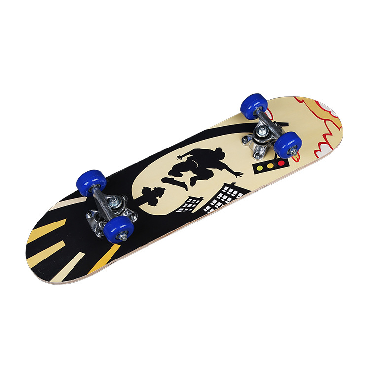Yongkang Manufacturers Direct Selling Maple Skateboard Children Primary Single Rocker Skateboard Four-wheel Scooter ride Instea