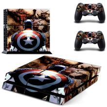Captain America PS 4 Sticker Play station 4 Stickers PS4 Skin Decal Pegatinas Adesivo For PlayStation 4 console and 2 controller