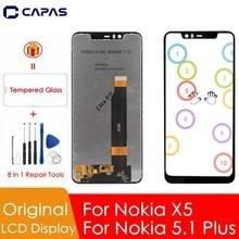 """Original Für Nokia 5,1 Plus LCD Display 10 Touch Screen Für Nokia X5 LCD Screen Digitizer 5,86 """"Ersatz Ersatz reparatur Teile"""