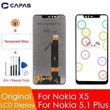 """Oryginalny dla Nokia 5.1 Plus wyświetlacz LCD 10 ekran dotykowy dla Nokia X5 z ekranem LCD 5.86 """"zamienne części do naprawy"""