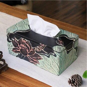 Bathroom Resin Tissue Box Desktop Organizer Holder For Office Home Living Room Bedroom Useful Storage Box Antique Art Paper Rack