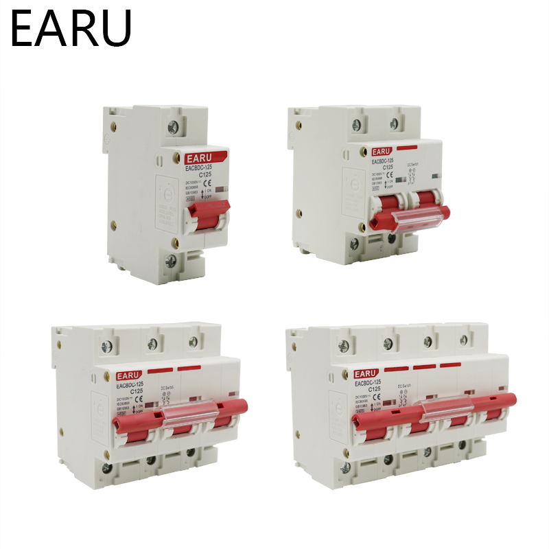 H967f1aefefe045daae4f7a88578ec4472 - DC 1000V 1P 2P 3P 4P Solar Mini Circuit Breaker Overload Protection Switch6A~63A/80A 100A 125A MCB for Photovoltaic PV System