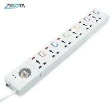 Power Strip Surge Protector de 3/4/5/6 AC puntos de venta Universal US/EU/AU/UK enchufes individuales interruptor de 3m/9.8ft Cordón de extensión