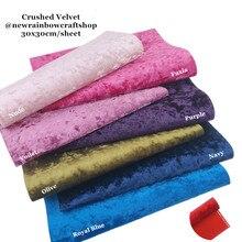 Novo arco-íris 30x3 0cm/folha lindo tecido de veludo esmagado com apoio de feltro macio para fazer arcos, brinquedos, acessórios, artesanato diy