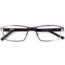 Dellacciaio inossidabile degli uomini occhiali da vista in metallo di stile di sport cerniera a molla
