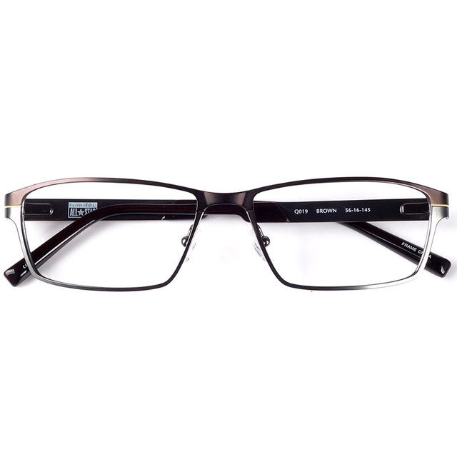 Men stainless steel metal spectacles sports style spring hinge