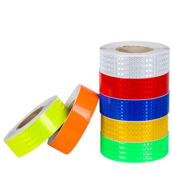 5cmx3m Reflective Material Tape Sticker Safety Warning Tape Reflective Film Car Stickers