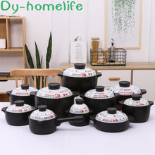 Japanese Style Multi-size Cartoon Ceramic Casserole Restaurant Kitchen Household Open Flame Heat-resistant Double-ear Soup Pot цена 2017