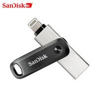 SanDisk USB Flash Drive iXPand U disco OTG conector Lightning USB3.0 Stick 256GB 128GB MFi para iPhone x/8/7/6/iPad SDIX60N