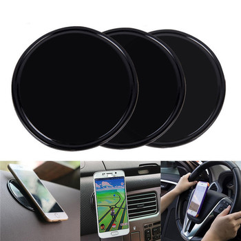 Universal Magic Rubber Multi-Function Wall Sticker Pad Mobile Phone Holder Car Bracket pods Gel Pads 5cm Anti Slip Gel Pad image