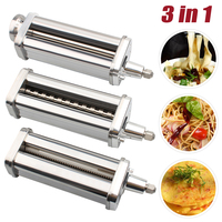 3 Pcs Pasta Roller Cutter Attachment Set for KitchenAid Stand Mixers Pasta Sheet Roller , Spaghetti Cutter, Fettuccine Cutter