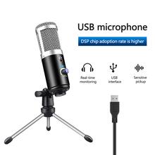Mikrofon kondensujący komputer Port USB mikrofon studyjny do karty dźwiękowej pc profesjonalne mikrofony Karaoke DJ nagrywanie na żywo tanie tanio honor Blat Dynamiczny Mikrofon Konferencja mikrofon Wielu Mikrofon Zestawy Jednokierunkowy Condenser microphone 680Ω 68dB-A