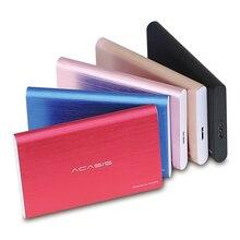 """Acasis 2,"""" Портативный внешний жесткий диск 1 ТБ/500 ГБ/2 ТБ/750 Гб/320 ГБ/250 ГБ USB3.0 красочные металлические HDD жесткий диск твердотельный накопитель для настольного компьютера ноутбука"""