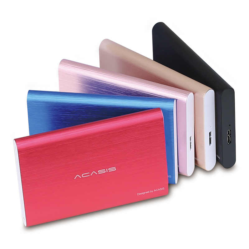 Acasis 2.5'' Portable External Hard Drive 1tb/500gb/2tb/750gb/320gb/250gb USB3.0 Colorful Metal HDD Hard Disk for Desktop Laptop