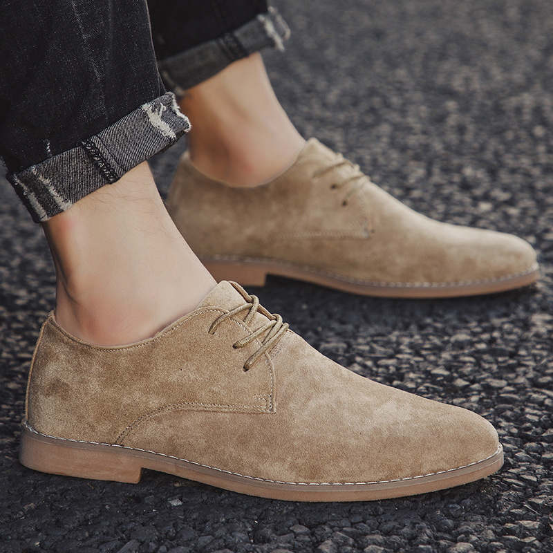Image 5 - 2019 Men Shoes England Trend Casual Shoes Male Suede Oxford Wedding Leather Dress Shoes Men Flats Zapatillas Hombre Plus Size 46-in Formal Shoes from Shoes