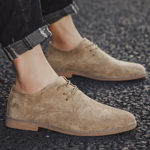 Image 5 - 2019 Men Shoes England Trend Casual Shoes Male Suede Oxford Wedding Leather Dress Shoes Men Flats Zapatillas Hombre Plus Size 46