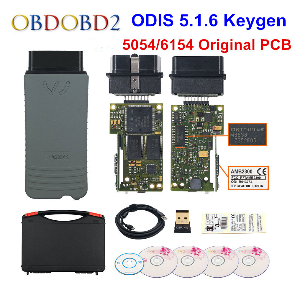 Original 5054 OKI Keygen 5054A Bluetooth AMB2300 ODIS V5.1.6 For V/AUDI/SKODA/SEAT 5054A 6154 WIFI UDS For VAG