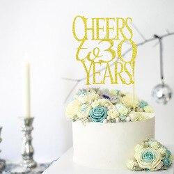 21th 30th 40th 50th 60th лет цифровые Свадебные Юбилей декорирование тортов капкейк для ношения с обувью,