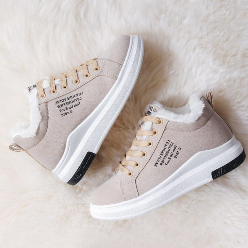 Cotton Shoes Female New Women's Boots Winter Plus Velvet Cotton Shoes Thick-Soled Warm Snow Women's Boots Women's Cotton Boots 4