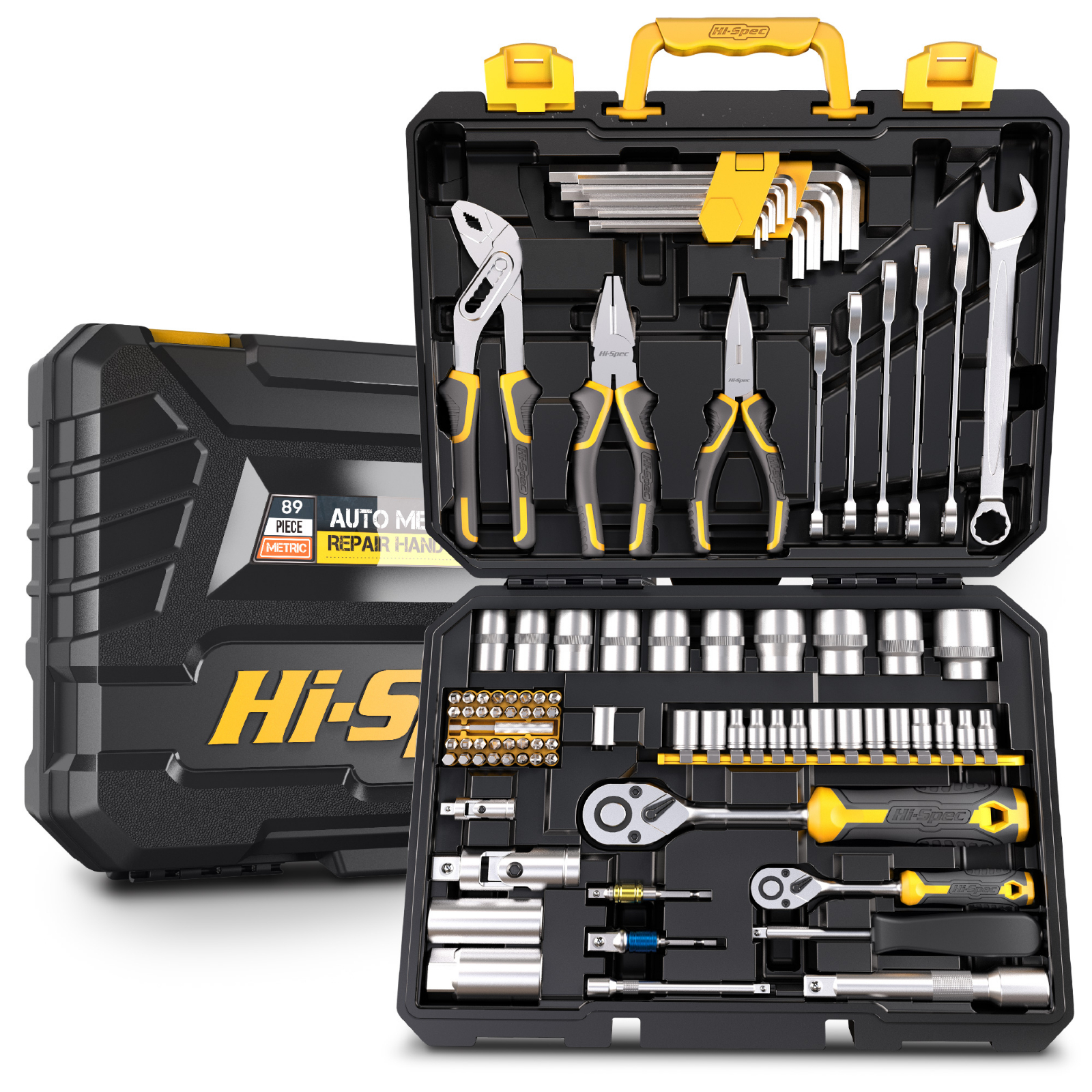 Professional Socket Wrench Auto 4 1 Spec For 2 Combination 1 Tools Of Toolbox Tool Tool Mechanic S Hand Kit Set Set With 89pc Hi