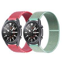 Ремешок 20/22 мм для galaxy watch 3/46 мм/42 мм/active 2 нейлоновый