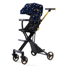 LazyChild Fashion Foldable Infant Baby Car Trolley With Awning Boarding Luxurious Portable Baby Carriage 2021 New Arrival