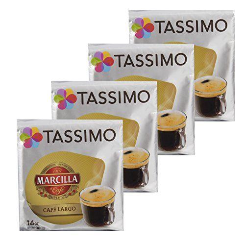 Tassimo Marcilla Café Largo, Caffè, Capsule, Caffè Macinato, 64T-Discs