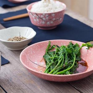 Image 2 - Styl japoński ceramiczne zastawy stołowe zestaw sztućce gospodarstwa domowego kreatywny ceramiczna zastawa (różowy)
