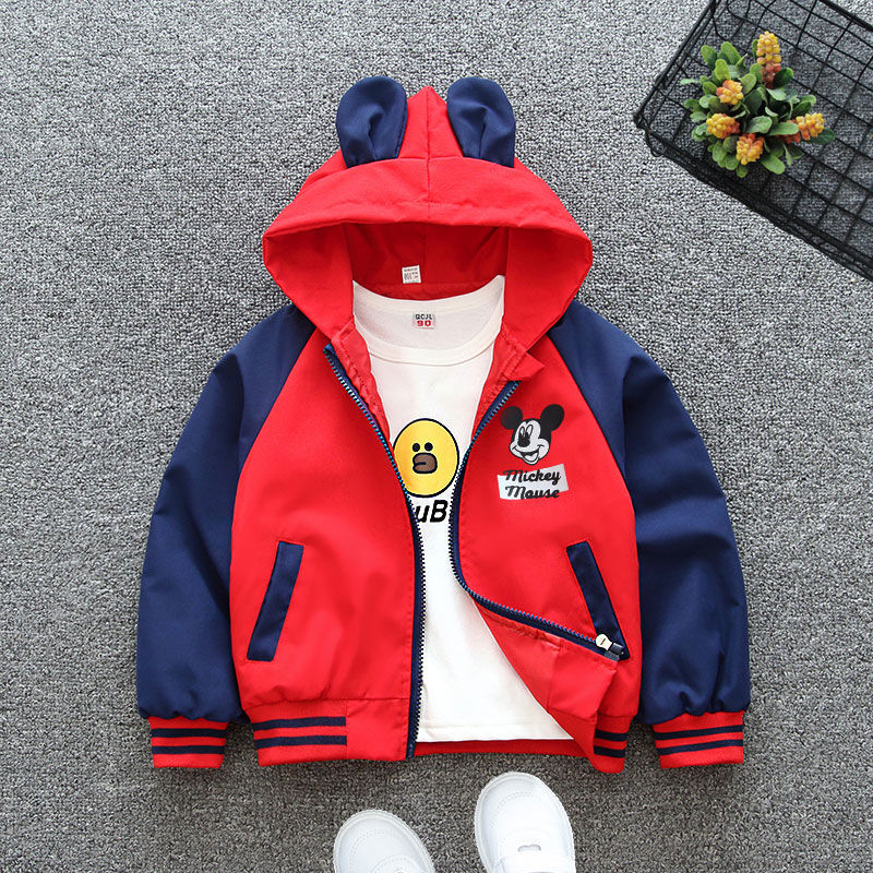 Autumn New Children's Cartoon Mickey Jacket Boys and Girls Baby Outing Clothes Jacket Children Zipper Cardigan Jacket
