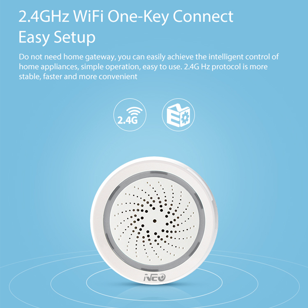 Image 3 - Wireless WiFi Siren Sensor Temperature Humidity Alarm smart tuya sirens with Amazon Google Home Assistant IFTTT-in Alarm Siren from Security & Protection