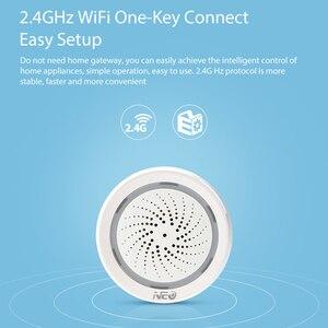 Image 3 - ワイヤレス wifi サイレンセンサー温度湿度警報スマートチュウヤサイレン amazon の google ホームアシスタント ifttt