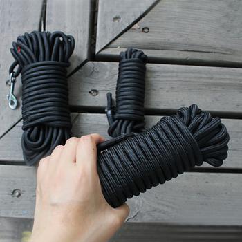 Czarny Nylon smycz długi śledzenia sznur okrągły do chodzenia na zewnątrz szkolenia smycz dla zwierząt domowych smycze dla średnich duże psy 5M 10M 15M tanie i dobre opinie Podstawowe smycze wszystkie pory roku Stałe ZABEZPIECZENIE 91137 Nylon Dog Tracking Leash Black 0 8cm 0 31inch S-5m(16 4ft) M-10m(32 8ft) L-15m(49 2ft)