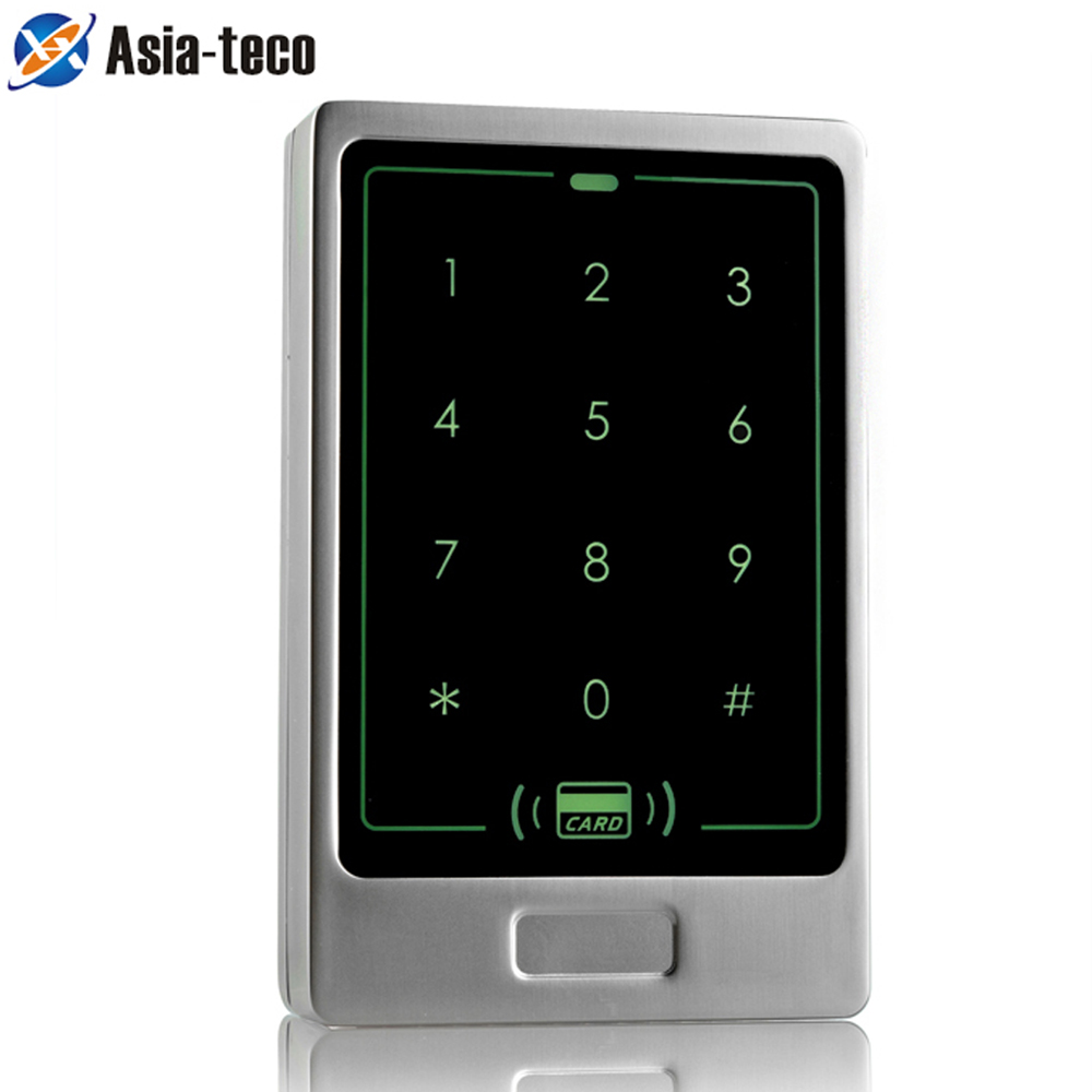 RFID Standalone Touch Metal Access Control 125KHz ID Waterproof Cover For Door Access Control System 8000 user