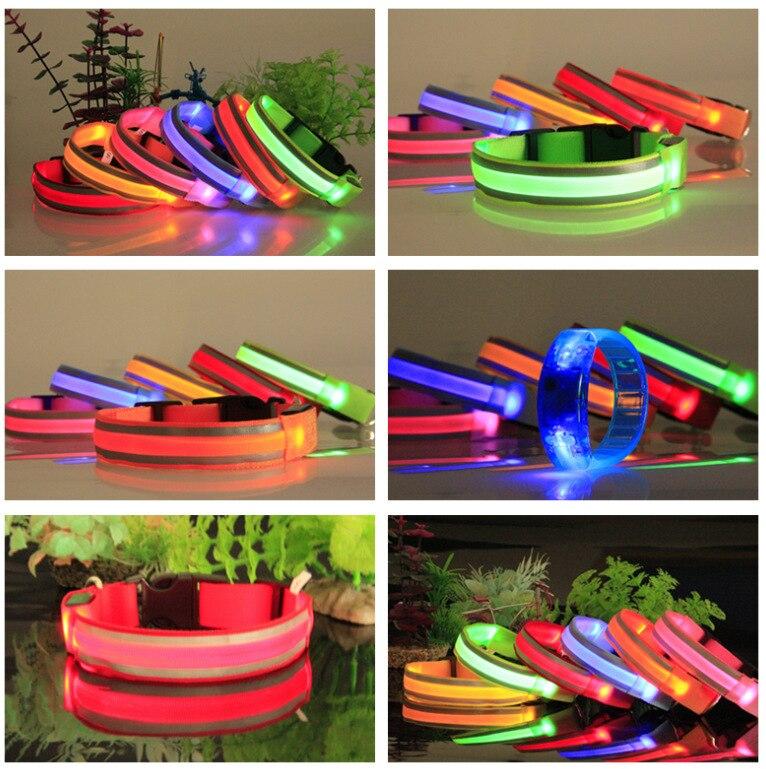 Reflective Strips LED Shining Pet Dog Collar Flash Neck Ring Night Light Safe Neck Ring Good Brand