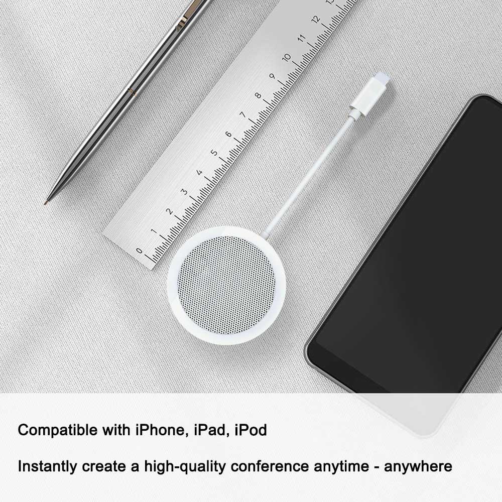 Voor Bliksem Aangedreven Conferentie Luidspreker met Microfoon Aux Jack Licht ning naar audio adapter voor iPhone X/XR /XS/8/iPad Pro/iPod - 2