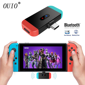 Suitable for Nintendo switch Bluetooth transmitter 5.0 TYPE-C Sony PS4 audio adapter With Mic gulikit ns07 usb c route air bluetooth wireless audio adapter or type c transmitter for the nintendo switch switch lite ps4 pc