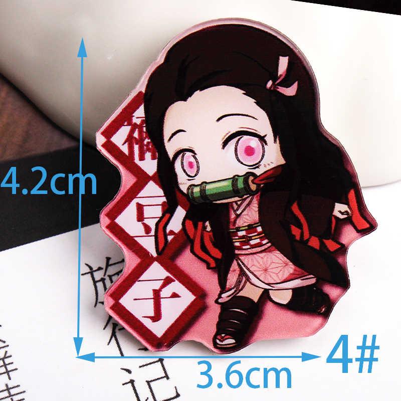 1Pcs Kimetsu Geen Yaiba Cartoon Hero Badges Voor Kleding Acryl Badges Kawaii Pictogrammen Op De Rugzak Pin Broche Badge y10