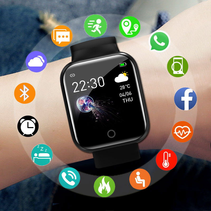 2020 New Smart Watch Men Women Smartwatch For Android IOS Electronics Smart Clock Fitness Tracker Silicone Bluetooth Smart-watch
