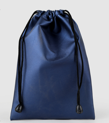 10pcs/lot 9.5x16cm Black/Red/Blue/Coffee/Grey PU Leather Drawstring Packaging Bag Pouch Waterproof Travel Accessories