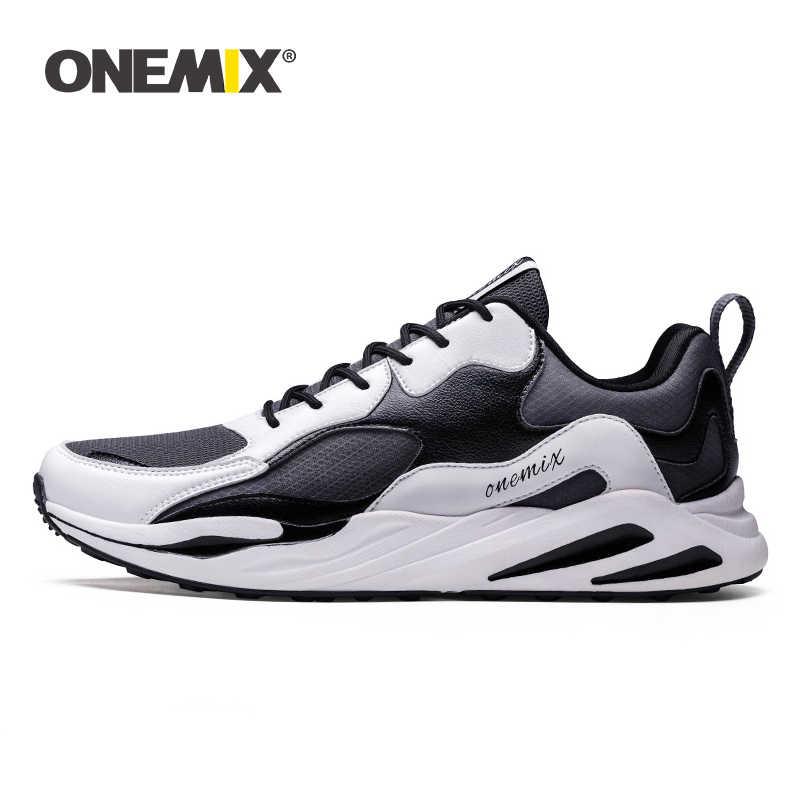 ONEMIX orijinal Retro erkek koşu ayakkabıları markalı nefes yürüyüş açık chaussures de 750 Retro spor ayakkabılar erkek tenis ayakkabısı