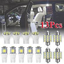 цена на 13pcs 194 /T10/ W5W /31MM/C5W LED Car Interior Light 5SMD / 12SMD / 8SMD LED Bulbs 6500K White Dome Reading Light Auto Lamp 12V