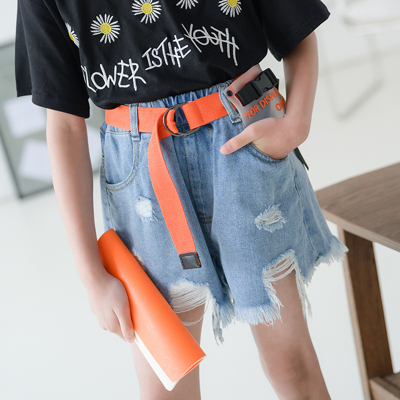 Teenagers Baby Girls/ripped Jeans Shorts 2020 Summer Teen Girls Short Pants For Kids Pants For Children Clothes Denim Shorts 12 1