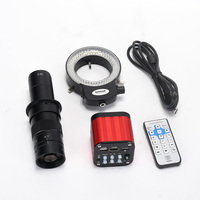 4K Digital Microscope Sony Sensor HDMI USB Industrial Video Microscope Camera 180X Objective Lens 144 LED for PCB CPU Repair
