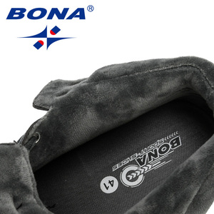 Image 5 - BONA 2019 New Designer High Top męskie buty wulkanizowane Trend wygodne męskie obuwie Outdoor antypoślizgowe buty Tenis Masculino