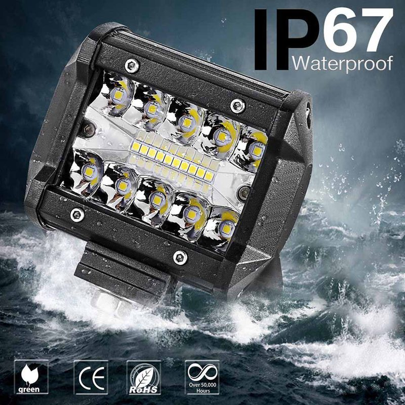 <font><b>4</b></font> Inch 60W <font><b>LED</b></font> Work Light <font><b>Bar</b></font> Combo <font><b>Offroad</b></font> Motorcycle SUV Foglights <font><b>LED</b></font> Light <font><b>Bar</b></font> for 4WD 4x4 ATV Truck image