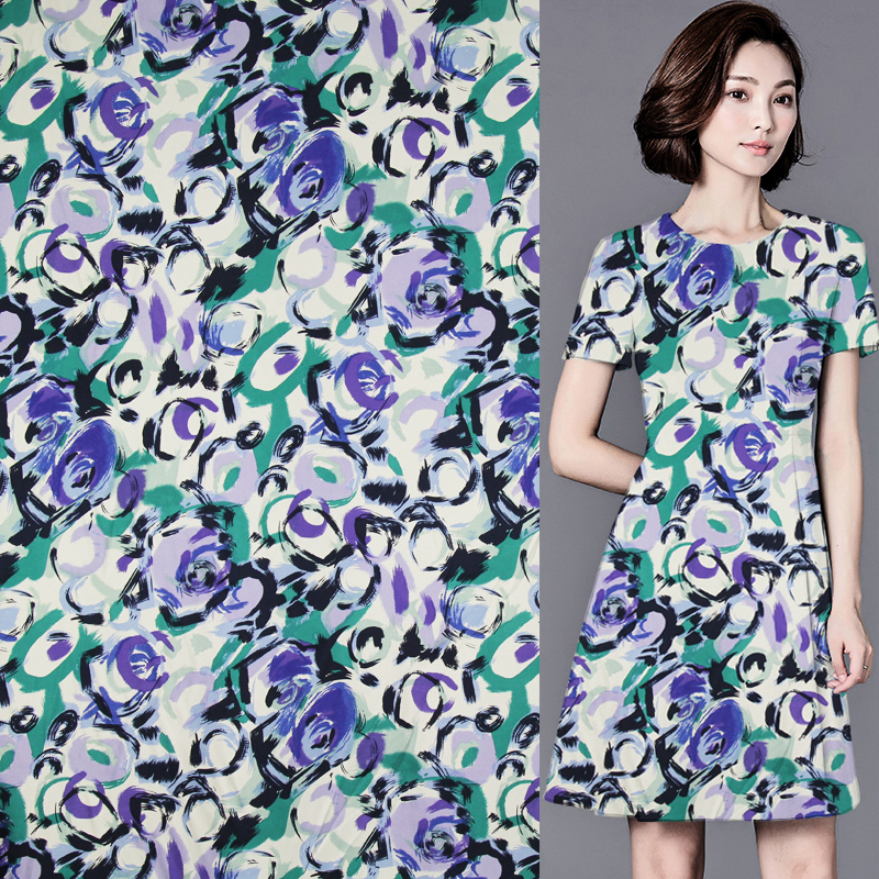 Модный абстрактный дизайн, шелковая ткань из чистого шелка, саржевая шелковая ткань 16momme,STW087|Ткань|   | АлиЭкспресс