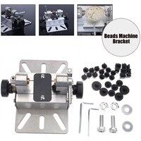 Drill Hole Rotary Tool Punch Bracket Durable Polisher Mini DIY Beads Machine Silver Craft Aluminum Alloy Lathe Multifunctional